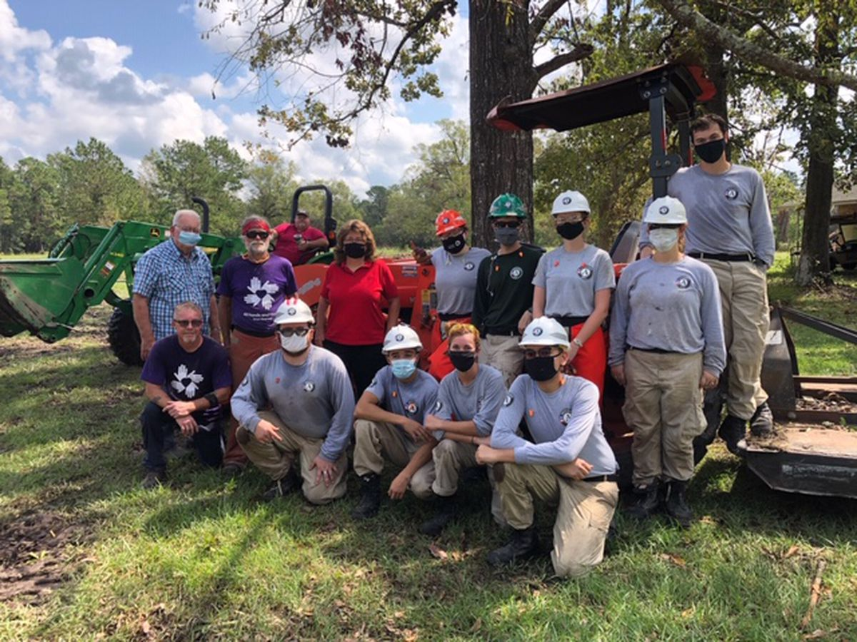 AmeriCorp youth help Kirbyville residents with Hurricane Laura cleanup