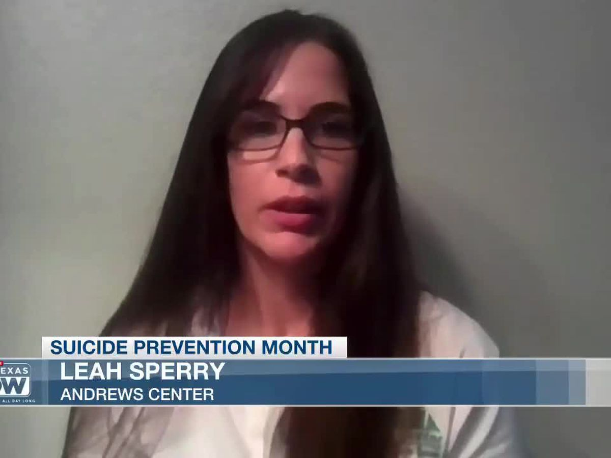 WATCH: Leah Sperry speaks about suicide prevention, free resources at Andrews Center
