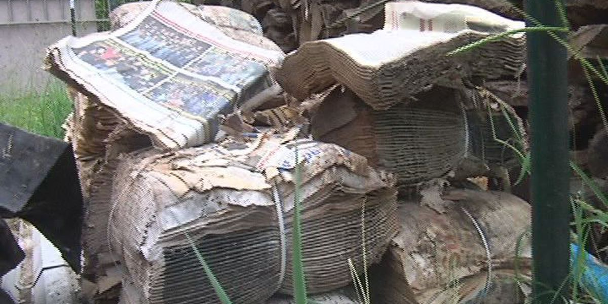 Pollok family upset after thousands of newspapers left on property