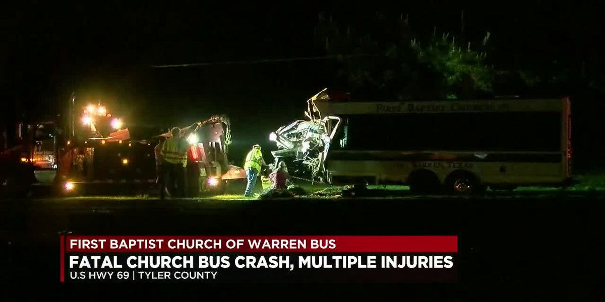 VIDEO: Adult killed, several people injured in Tyler County church bus wreck