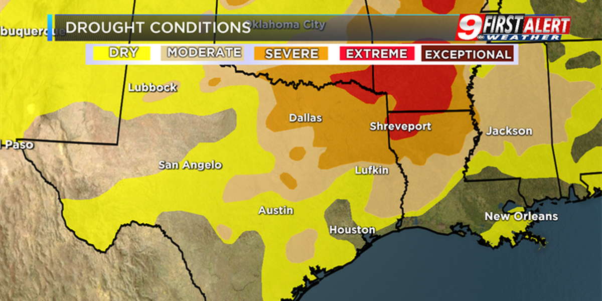 Drought conditions continue to expand and worsen across East Texas