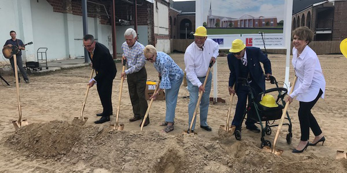 First Baptist Church Lufkin breaks ground on future children's building
