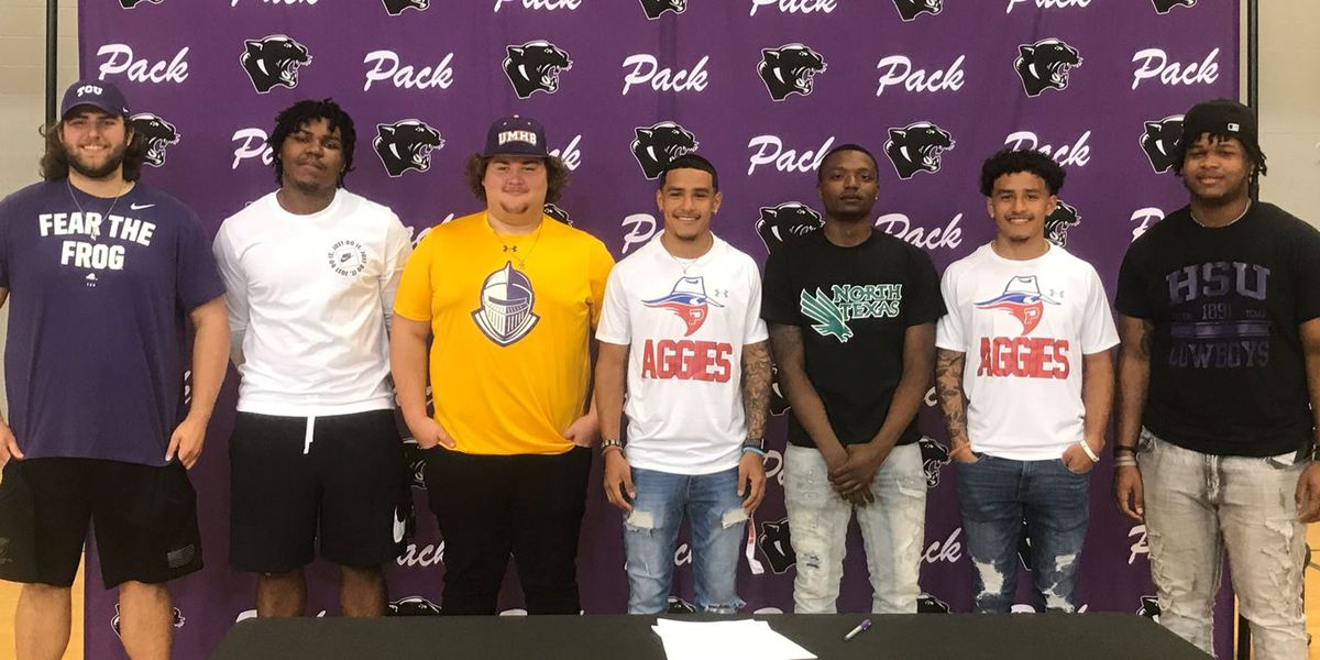 7 Lufkin football players sign to play with college programs