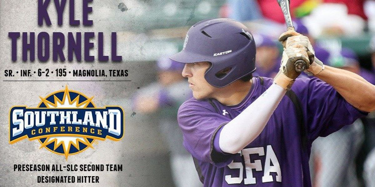 Thornell Placed on Preseason All-Southland Conference Second Team
