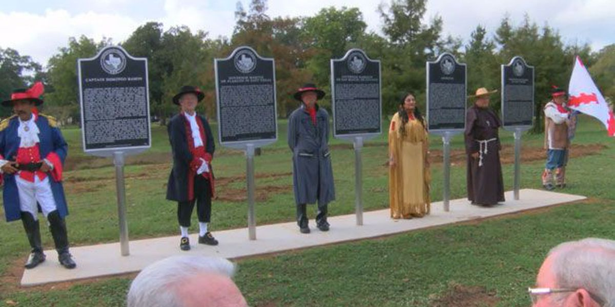 State of Texas unveils 5 historical markers in honor of Nacogdoches Tricentennial
