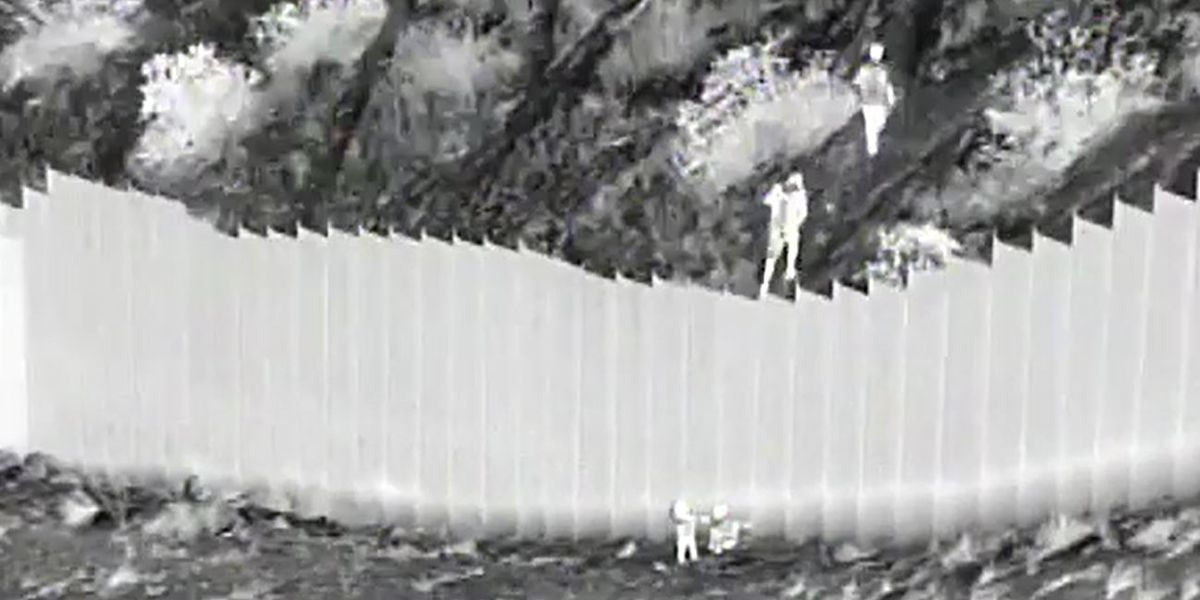 VIDEO: Smugglers drop 2 toddlers over border barrier, rescued by U.S. Border Patrol
