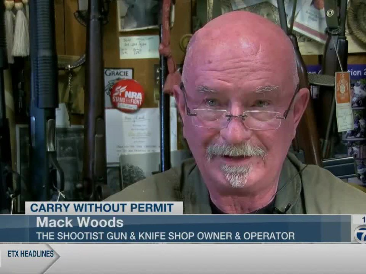 Gun store owner reacts to Rep. Schaefer bill proposal allowing for carrying guns without permit