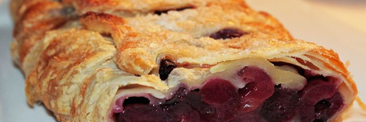 East Texas Kitchen: Cherry-Cream Cheese Streudel by Brigitta's Hungarian Restaurant
