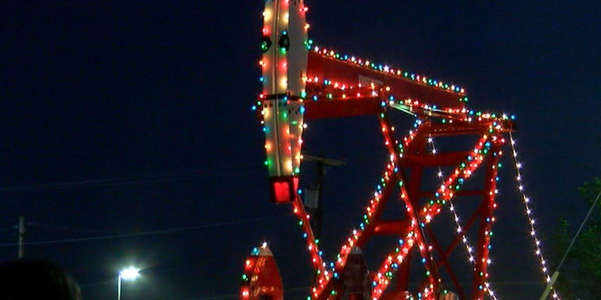 Rudolph the Red-Nosed Pumping Unit lights up downtown Lufkin