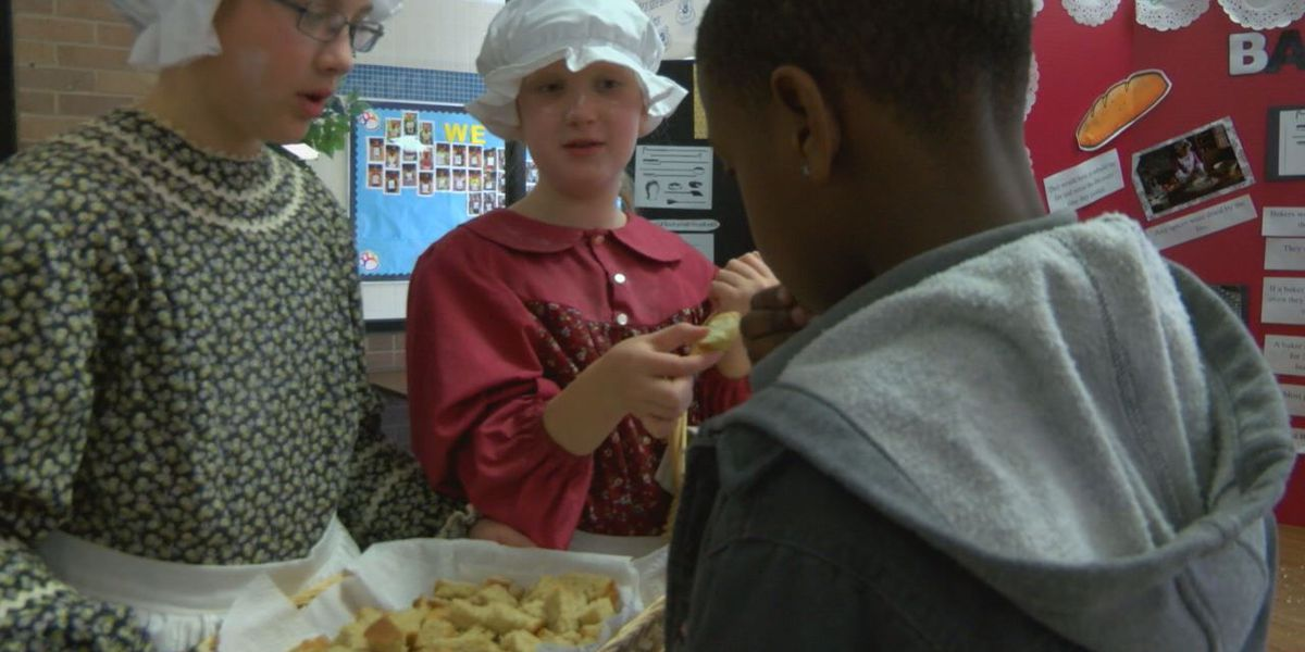 Brandon Students travel back in time with Boston Market