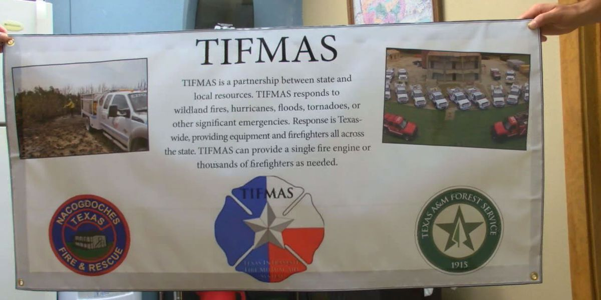 Nacogdoches firefighters, art professor helping with TIFMAS, state guard in Southeast Texas