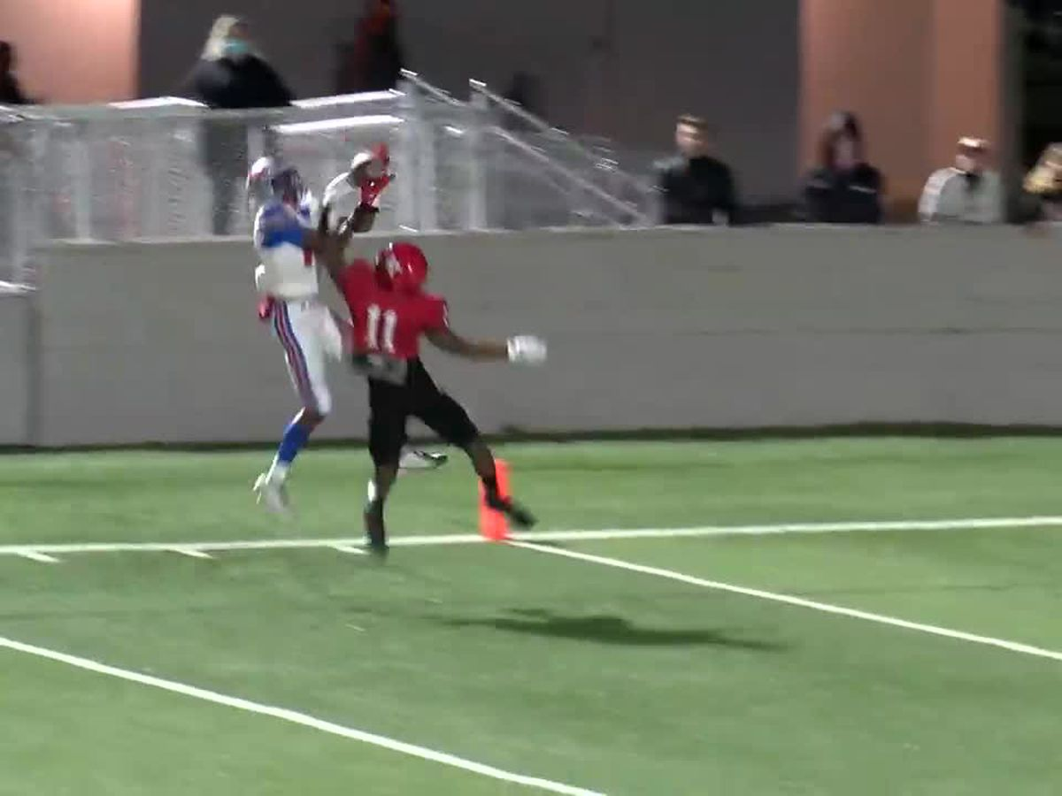 WATCH: Henderson's JJ Jackson bobbles in TD grab
