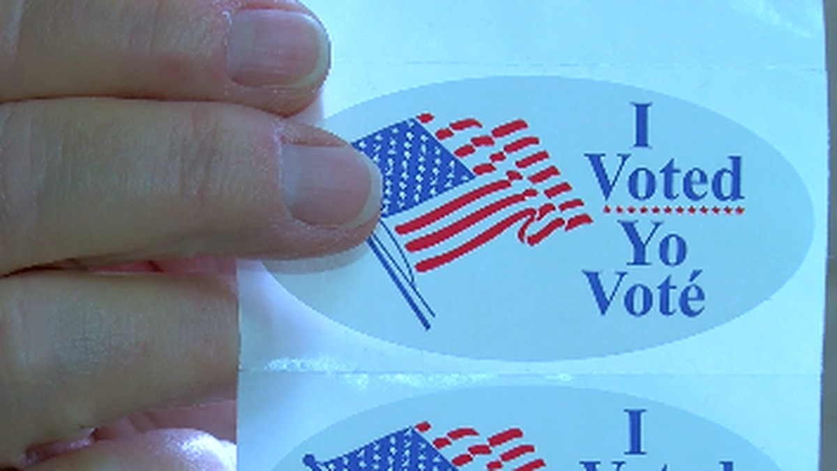 'I voted' stickers are a popular item among Angelina County voters