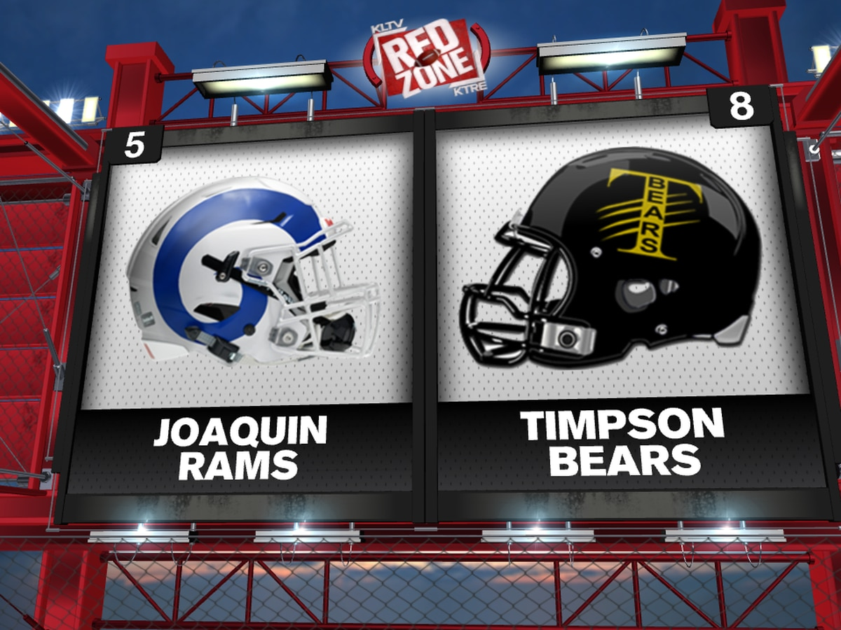 Joaquin, Timpson clash for 10-2A District crown in the Red Zone Game of the Week