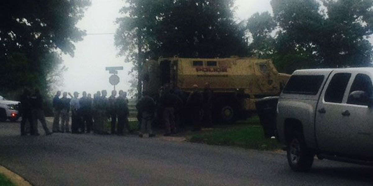 Large standoff in Nacogdoches leads to man's arrest