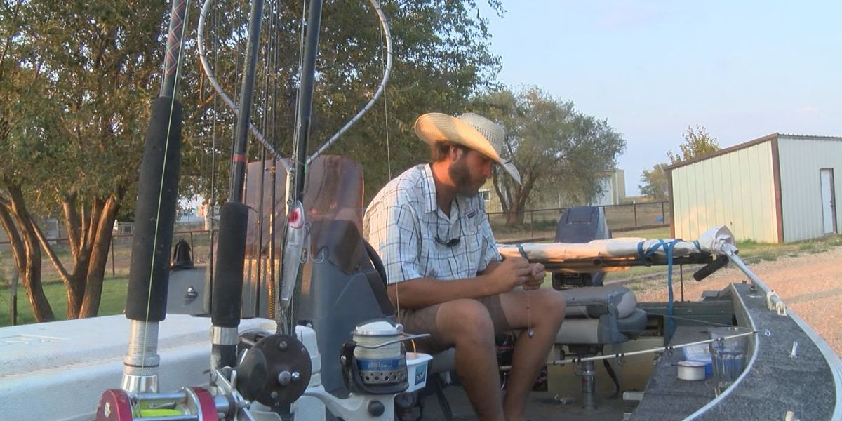 Lubbock fisherman's fantastic feat captured on viral video