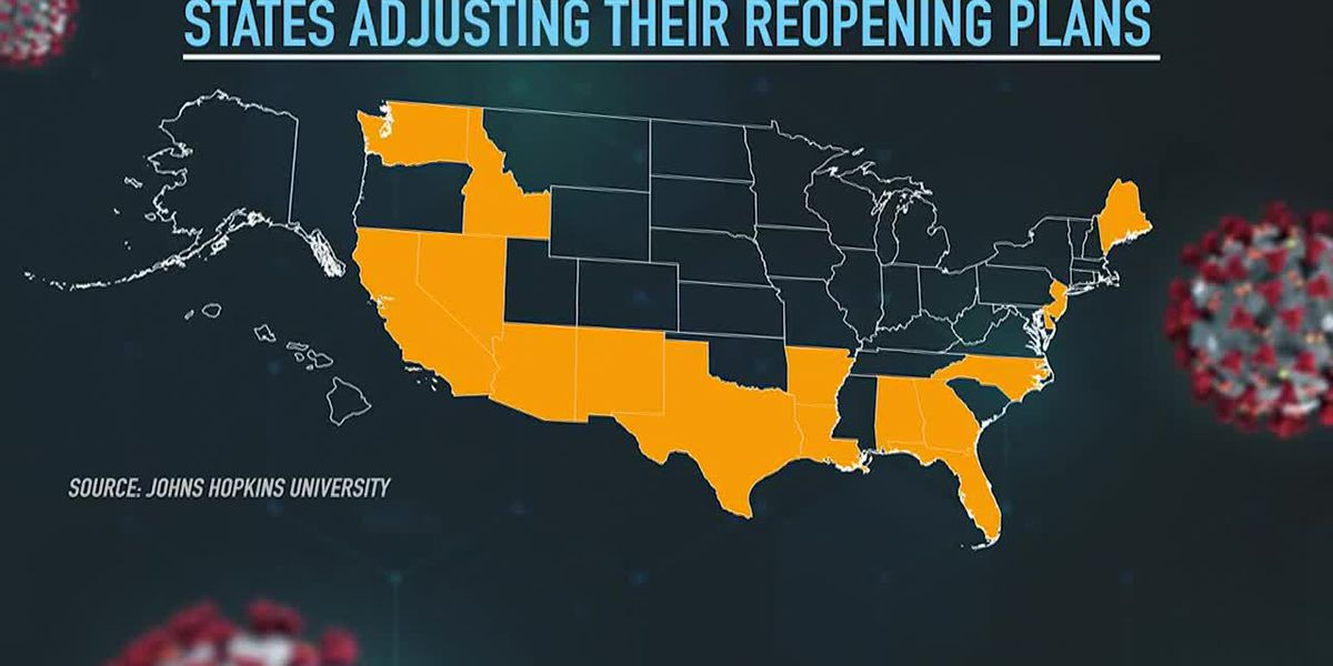 Cases spike in Sunbelt, other states back off on reopening
